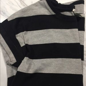 Thick Gray & Black Striped Tee